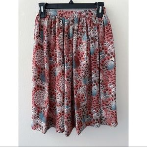 Campus Casual Vintage High Waisted Skirt